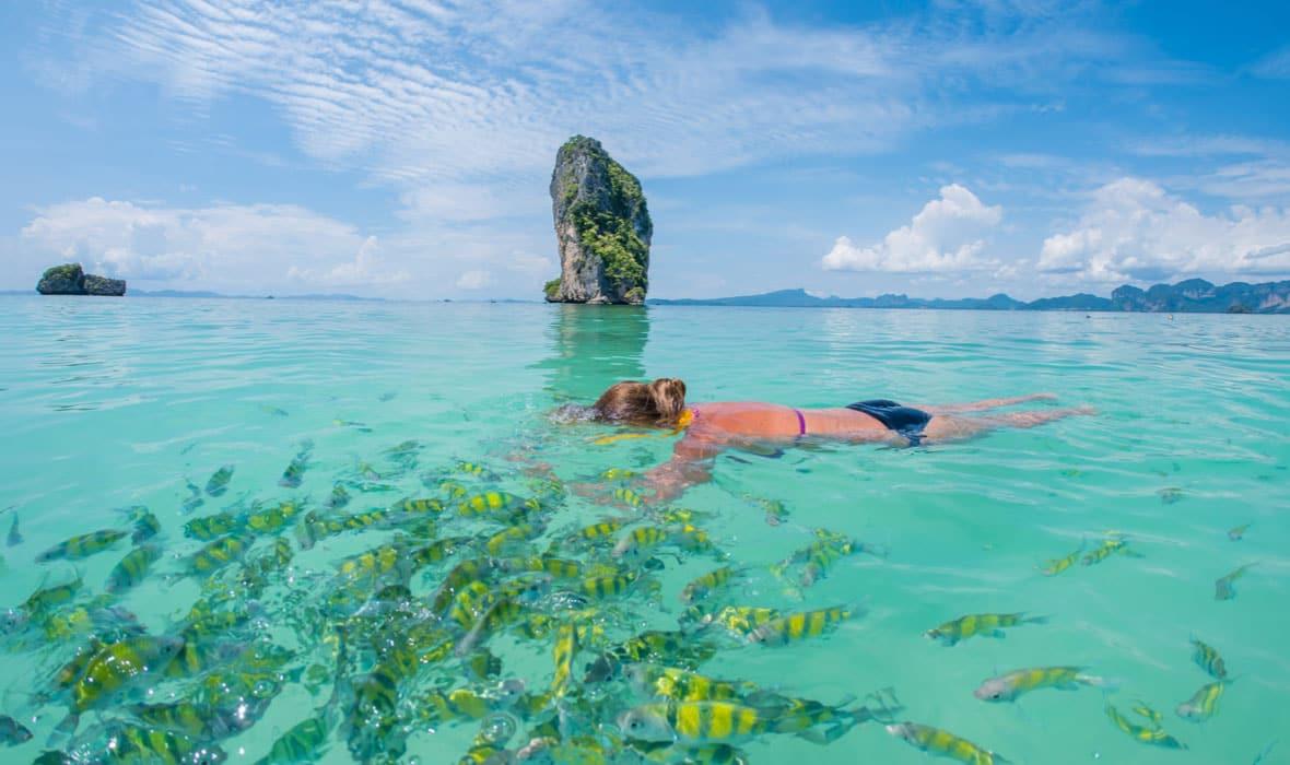 buceo en krabi, snorkel