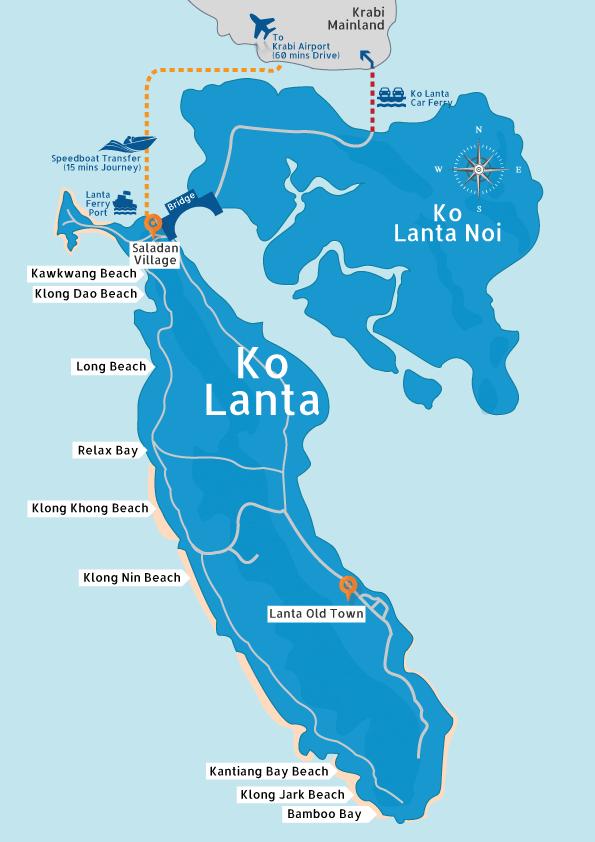 mapa de koh lanta