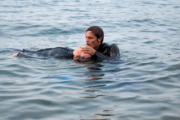 rescue diver, respiracion