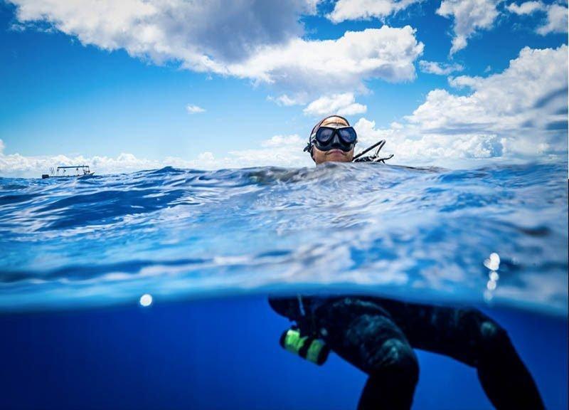 comenzar inmersión superficie