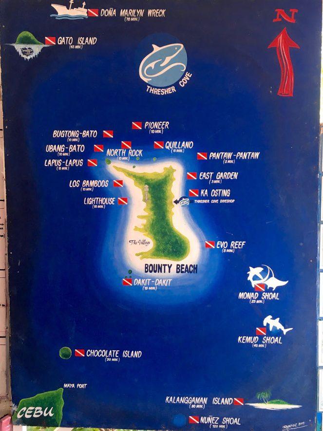 puntos de buceo en Malapascua